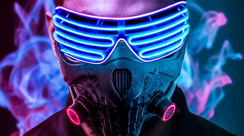 Looking for the best boy wallpapers? 4k Ultra HD Neon Mask Boy Wallpapers - Wallpaper Cave