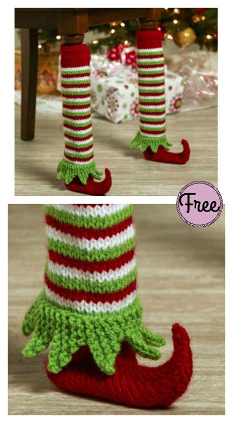 elf shoe table leg cover  knitting pattern