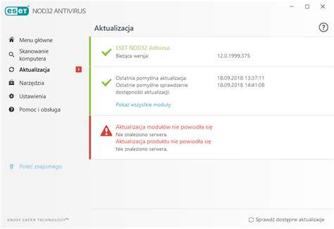 aktualizowanie programu eset nod32 antivirus pomoc online eset
