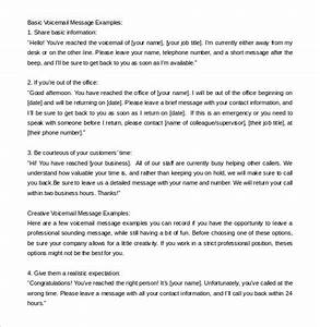 message template 21 free word pdf documents download With voice message template