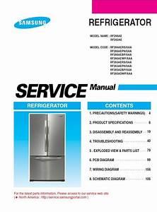 Samsung Rf265adbp Rf265adwp Refrigerator Service Manual
