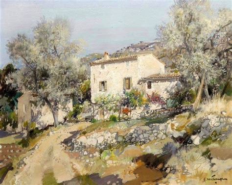 Provence Landscape Painting By Gabriel Deschamps French