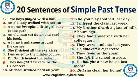 sentences  simple  tense english study