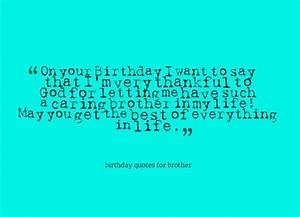 Birthday Quotes For Brother. QuotesGram