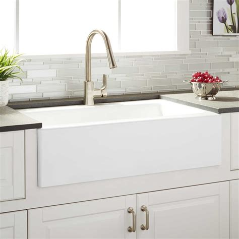 kohler tub 33 quot almeria cast iron farmhouse kitchen sink kitchen