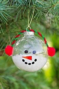 2013 Christmas Clear Glass Ornament snowman glass home