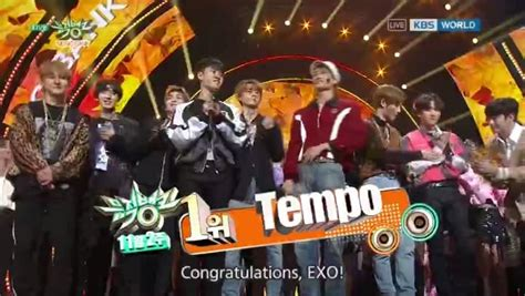 exo tempo win exo take their first win for tempo on kbs music bank