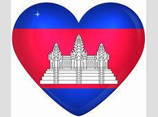 Cambodia Large Heart Flag Gallery Yopriceville High