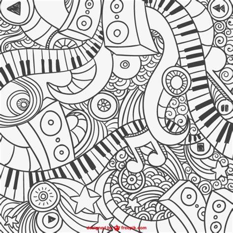 grafittis de piano abstrato textura  doodle