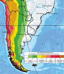 Earthquake Hazard Map South America