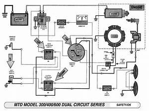 Mtd Riding Lawn Mower Electrical Diagram