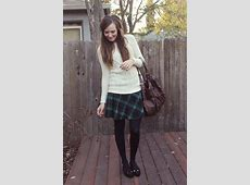 Katie Reyes Forever 21 Sweater, H&M Plaid Skirt, Hue