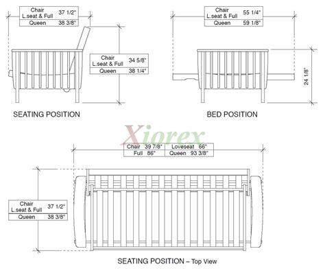 size sofa bed measurements futon dimensions size