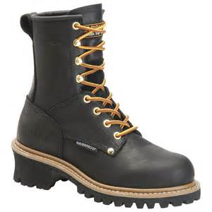 womens boots for work 39 s carolina waterproof steel toe logger boots 227428 work boots at sportsman 39 s guide