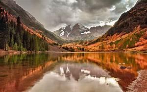 Fall, Mountain, Lake, Wallpapers