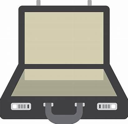 Briefcase Suitcase Vector Open Clip Illustrations Cartoons