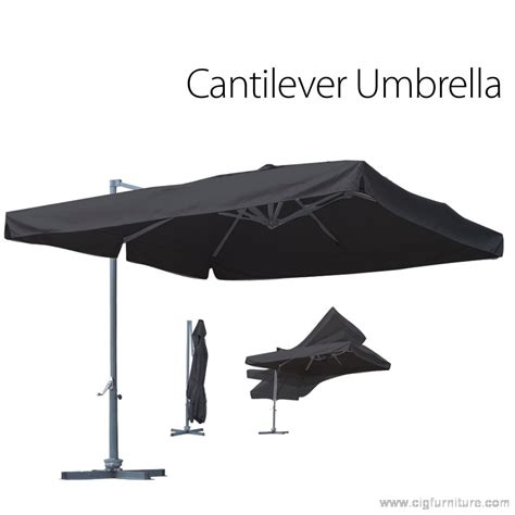 aluminium outdoor garden patio 3 m cantilever umbrella