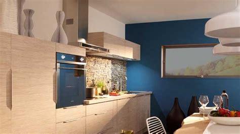 mur cuisine bleu le bleu nouvelle de la cuisine