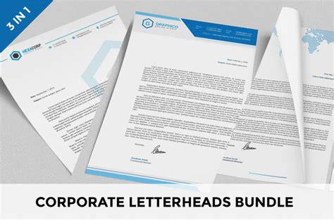 corporate letterheads bundle template photoshop templates