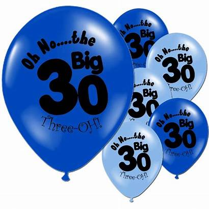 30th Birthday Happy Balloons Party Dark Adults