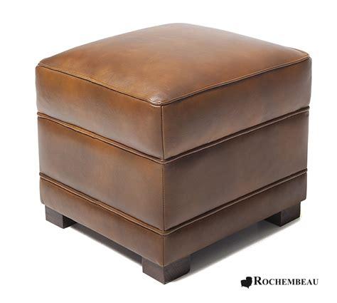 canape cuir fabrication pouf carré en cuir 48 x 48 cm poufs rochembeau