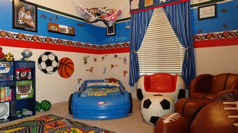 Decorating Ideas For Sports Bedroom by 54 Sports Room Boys Sports Bedroom Themes