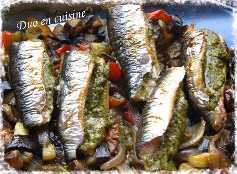 comment cuisiner des sardines sardines au pesto sur lit de légumes d 39 été duo en cuisine