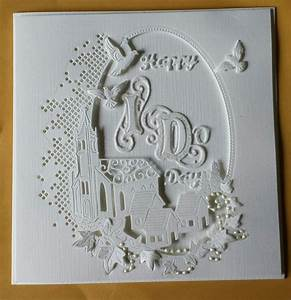 wedding card made using tattered lace melded church die With tattered lace wedding invitations