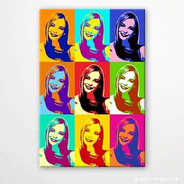 bilder pop pop bilder vom eigenen foto portraits auf leinwand