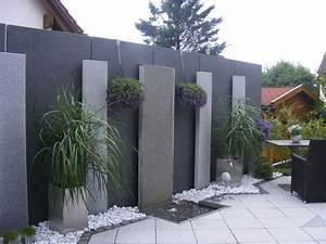 Sichtschutz Mauer Naturstein : beton sichtschutz garten ~ Michelbontemps.com Haus und Dekorationen