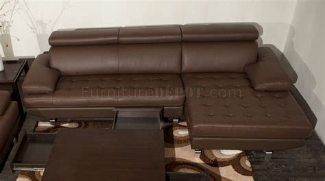 Light Brown Leather Sectional by Stem Sectional Sofa By Beverly In Light Brown Leather