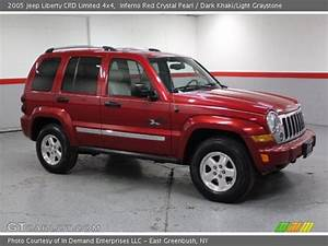 Inferno Red Crystal Pearl - 2005 Jeep Liberty Crd Limited 4x4  Light Graystone