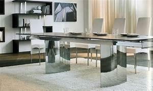 Esstisch Holz Metall Design : moderner esstisch aus holz glas und metall 15 designs ~ Buech-reservation.com Haus und Dekorationen