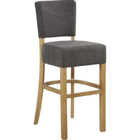 chaise bar bois chaise haute de bar ramos en tissu et bois