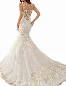 venusdress lace wedding dresses for brides long mermaid With season mall wedding dresses