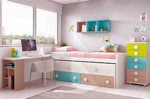 Lit Design Enfant : chambre ado design avec lit sur lev color et fun glicerio so nuit ~ Teatrodelosmanantiales.com Idées de Décoration