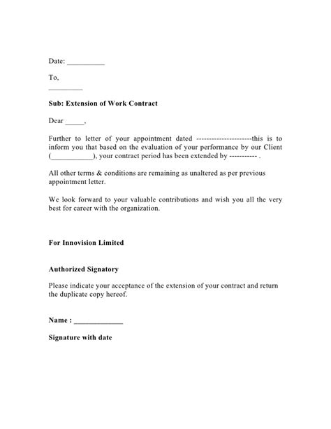Extend letter draft copy