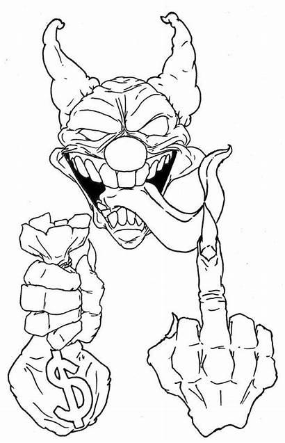 Clown Skull Drawings Killer Tattoo Drawing Joker