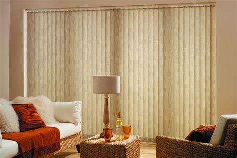 vertical blinds  sliding glass doors  large windows