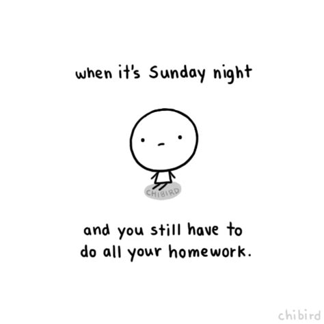 Do All Homework by When It S Sunday And You Still To Do All Your