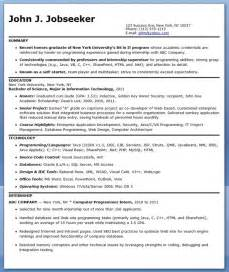 computer programmer resume exle c programmer resume