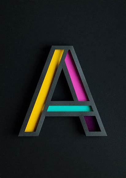 Letter 3d Typography Designtaxi