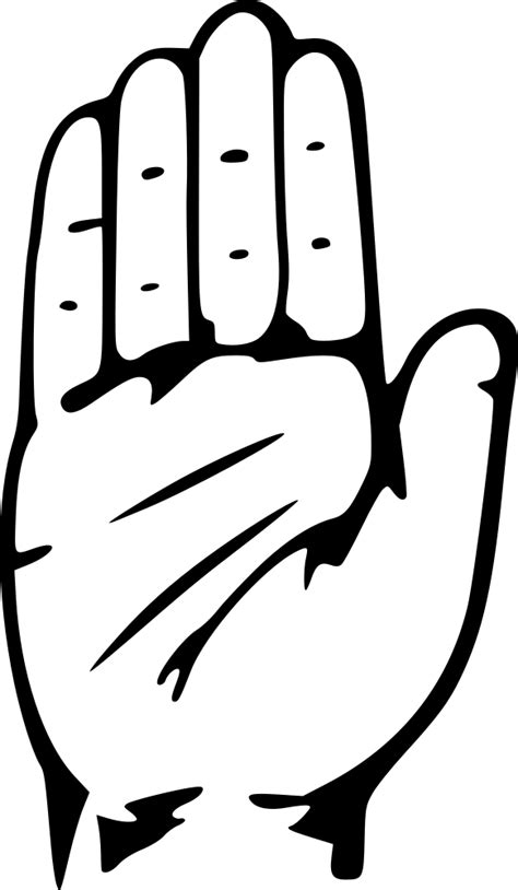 onlinelabels clip art hand congress symbol