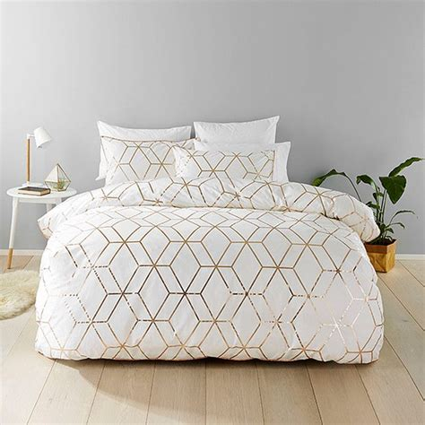 White And Gold Bed Covers by Harlow Quilt Cover Set Books Worth Reading Bedroom