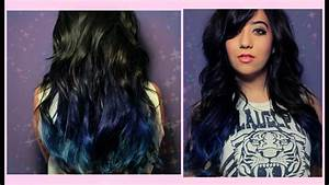 BLACK TO BLUE OMBRE | Hair Dye Experiment - YouTube