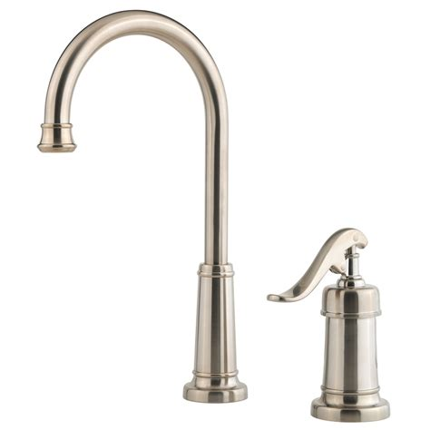 Pfister Ashfield Faucet Brushed Nickel by Shop Pfister Ashfield Brushed Nickel 1 Handle Kitchen