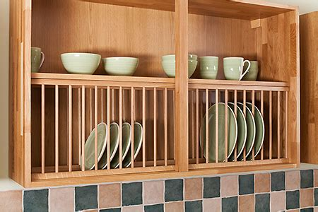 kitchen cupboard plate storage solid wood oak plate rack 1200mm x 342mm painted light 4351