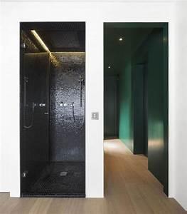 Badezimmer Fliesen Ideen Mosaik : bad ideen kleiner duschbereich mosaik fliesen schwarz ~ Watch28wear.com Haus und Dekorationen