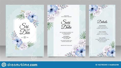 Elegant Wedding Invitation Card Set Template With