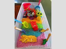 Fun for Kids ~ Rainbow Rice Organizing Homelife